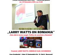 """Conferință Larry Watts despre România la Centenar la Institutul de Sociologie al Academiei Române. Cărțile Centenarului Marii Uniri – """"Oaia albă în turma neagră. Politica de securitate a României în perioada Războiului Rece"""""""