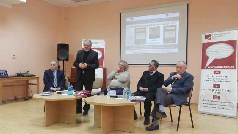 Ilie Badescu lansare cu Dimitrie Gusti la Biblioteca din Arges 2016