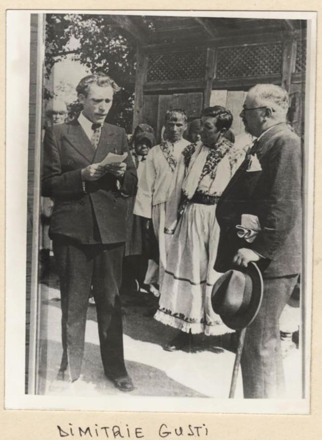 Inaugurarea Muzeului National al Satului Dimitrie Gusti - Henri Stahl 1936