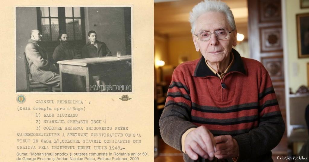 Parintele-martir-Gherasim-Iscu-staret-Tismana-col-Petre-Grigorescu-si-Radu-Ciuceanu-la-reconstituirea-Securitatii-1948-CNSAS-Marturistorii-Ro-via-Roncea-Ro