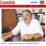 """Profesorul Ilie Bădescu în ziarul Lumina al Patriarhiei Române: Țăranii, """"singura aristocraţie cu investitură divină"""""""